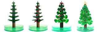 ↑ マジッククリスマスツリー成長の過程