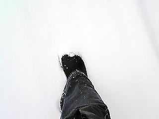 雪を踏みしめる音が大好き